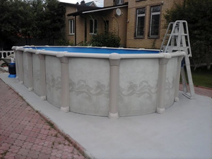 Каркасный бассейн Гибралтар 10.0х5.5х1.32 компл. Atlantic Pools